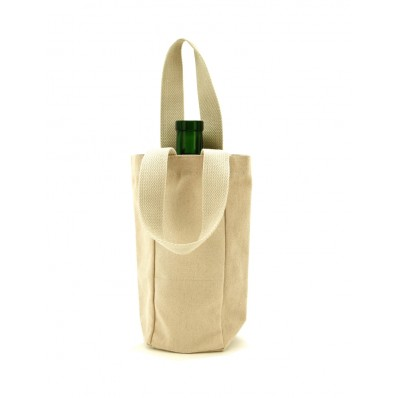 Cotton Canvas Singe Wine Tote Bag