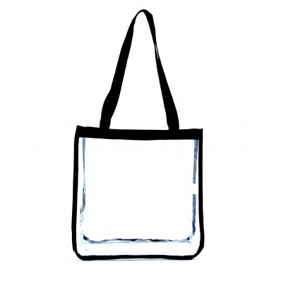 Security Clear Shoulder Bag, Black