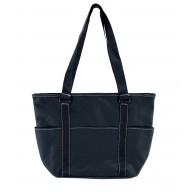 Front Pocket Deluxe Tote Bag, Black