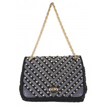 Party Eye-catching Woven Leather Shoulder Bag