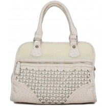 Daisy Flower Field Handbag, White