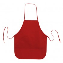 "Simple 2 Round Pockets Apron-20"" W x 24"" H"