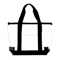 Right Size Durable Security Clear Tote Bag, Black