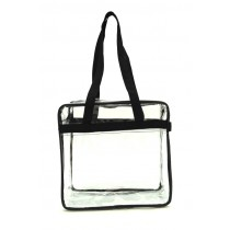 NFL approved Clear Tote Bag, Black
