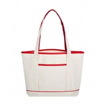 Anna Colored Trim Tote Bag
