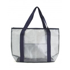 Practical PVC and Mesh Beach Tote Bag