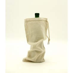 Cotton Canvas Drawstring Single Wine Bag