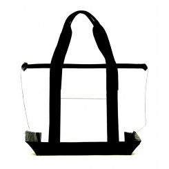 Right Size Durable Security Clear Tote Bag