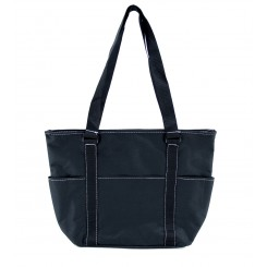 Front Pocket Deluxe Tote Bag, Black